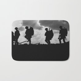 Soldier Silhouettes - Battle of Broodseinde Bath Mat