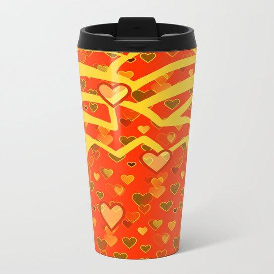 I Love Pineapple Metal Travel Mug