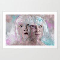 amy sia Art Prints featuring Sia - Maddie by firatbilal