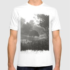 Foggy Path Mens Fitted Tee MEDIUM White