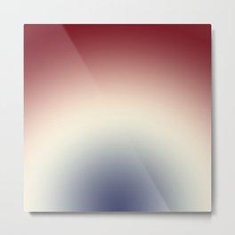 Radical Red White Blue Metal Print