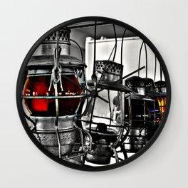 Railroad Lanterns Photography Wall Clock