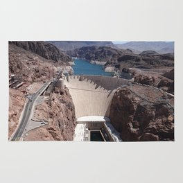 Hoover Dam Aerial View Rug