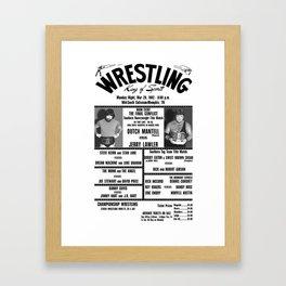 #16 Memphis Wrestling Window Card Framed Art Print