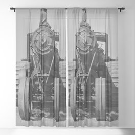 Avery Antique Tractor Sheer Curtain
