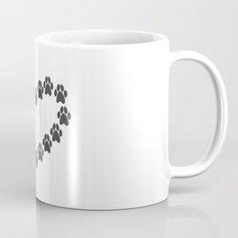 Paw Prints Heart Coffee Mug