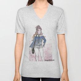 Lavender Outfit Unisex V-Neck