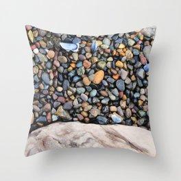 Rocks of Nisqually No. 1 Throw Pillow