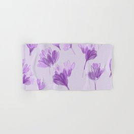 Purple Crocus Hand & Bath Towel