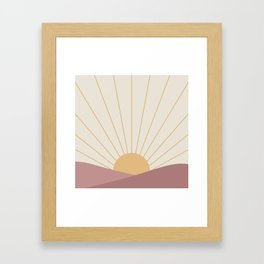 Morning Light - Pink Framed Art Print