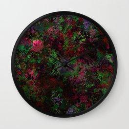 Purple Warfare - Abstract purple, pink, green and black abstract Wall Clock