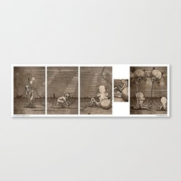 Diving Hosed Canvas Print