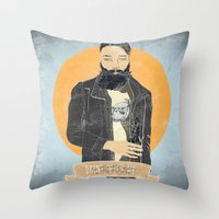 alcohol Throw Pillows featuring alcohol and engines by Napa