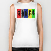 justice league Biker Tanks featuring Justice Silhouettes by iankingart