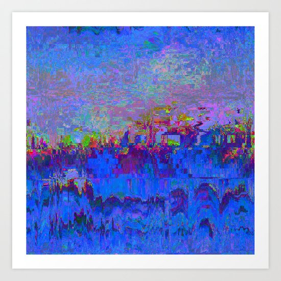 08-20-13 (Skyline Glitch) Art Print