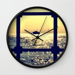 istanbul from behind the bars Wall Clock