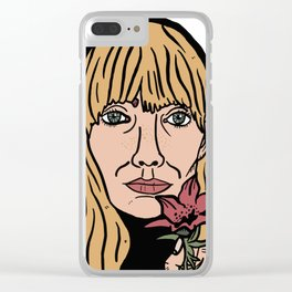Joni Mitchell Clear iPhone Case