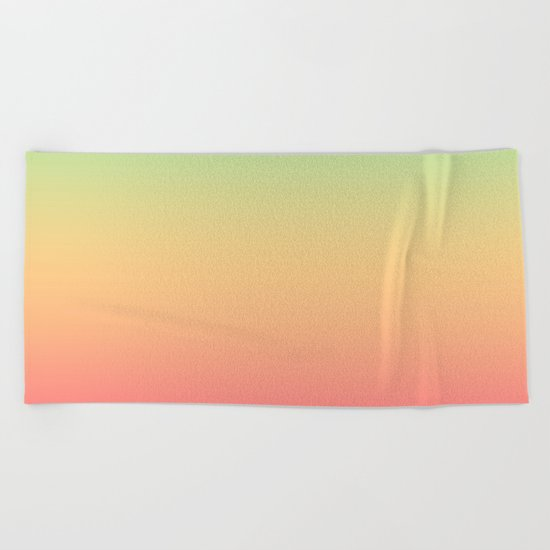 Ombre gradient digital illustration pink, blue, orange colors Beach Towel