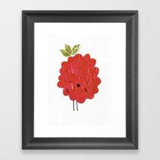 Eat Your Fruit! // Raspberry Framed Art Print