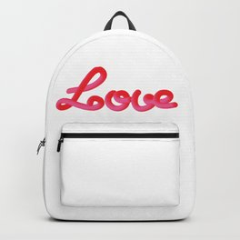 pink & red love Backpack