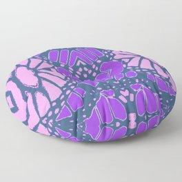 ABSTRACT PINK & PURPLE  GREY OPTICAL ART Floor Pillow