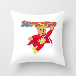 Super Ted Throw Pillow