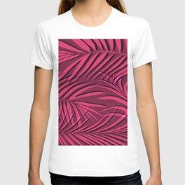 Red palm leaf T-shirt