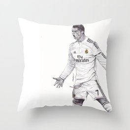 CR7 Drawing Throw Pillow