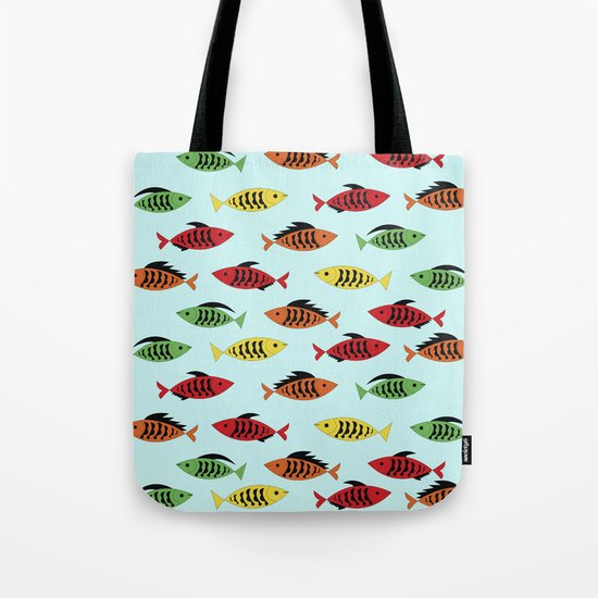fish pattern Tote Bag