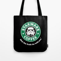 coffe Tote Bags featuring SW Coffe by ismaeledits