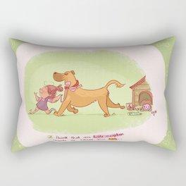 Little neighbor! Pets! Rectangular Pillow