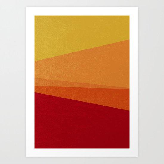 Stripe X Orange Peel Art Print