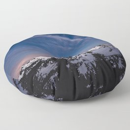 Mount Baker - Nature Photography Floor Pillow