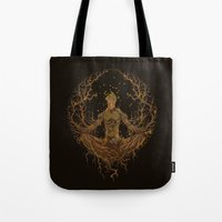 groot Tote Bags featuring Groot Mandala by Megmcmuffins