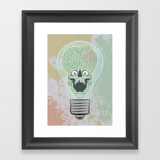 Think Martian  Framed Art Print