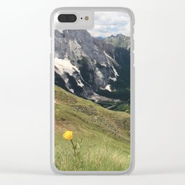 A flower with a view Clear iPhone Case