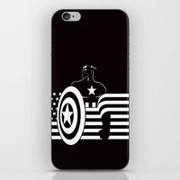 captain silva iPhone & iPod Skins featuring captain by MISTER BLACKWHITE