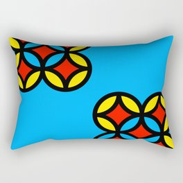 Colored Circles on Light Blue Board Rectangular Pillow