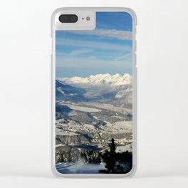Innsbruck In Winter From Patscherkofel Mountain Clear iPhone Case