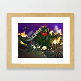 """""""Big Snake Vs. Big Lizard"""" (Farts 'N' Crafts episode 3) Framed Art Print"""