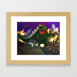 """Big Snake Vs. Big Lizard"" (Farts 'N' Crafts episode 3) Framed Art Print"