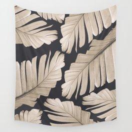 Sepia Banana Leaves Dream #1 #foliage #decor #art #society6 Wall Tapestry