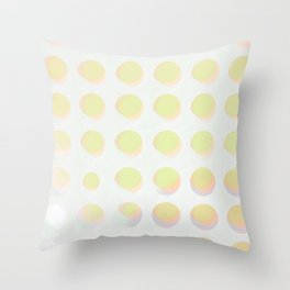An abstract array of dots in bright cheerful whites and colors Throw Pillow