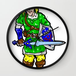 He's the missing Link between the world of Hyrule and your video game console... Legend of Zelda Wall Clock