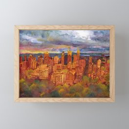 Montreal from Mont Royal during Sunset Framed Mini Art Print