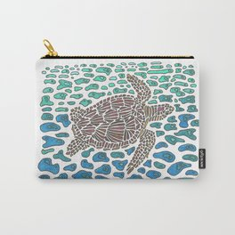 Vanishing Sea Turtle by Black Dwarf Designs Carry-All Pouch