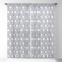 Japanese Wave Seigaiha Seamless Patterns Symbols Sheer Curtain