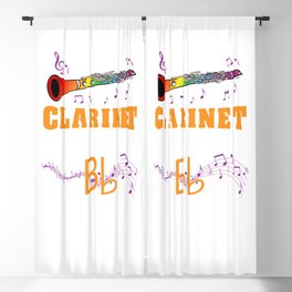 Without A Clarinet Life Would Bb For Clarinet Lover Blackout Curtain