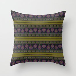Persian Tapestry Blue and Gold  Throw Pillow