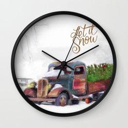 Let it Snow Wall Clock